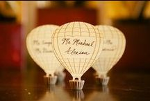 Love is in the Air / Vintage hot air balloon themed wedding.