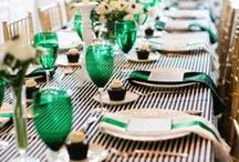 Eclectic Emerald / Gorgeous eclectic emerald wedding inspiration! Could be used for a Great Gatsby or 1920's themed wedding.