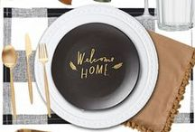 Modern Rustic Thanksgiving / Great inspiration for a modern Thanksgiving style wedding.