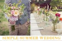 Simple Summer  / Great inspiration for a simple and relaxed summer wedding. Including wildflowers, mixed china, simple buffets, etc.