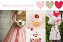 Valentines Chic / Valentines Day Wedding Inspiration! Try a pallet of red, pink & gold or of radiant orchid!