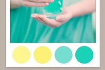 Fresh Spring / A light fresh and easy spring wedding. Palette: Aqua & yellow. You could do simple blue mason jar centerpieces with inexpensive daffodils. Yellow or aqua bridesmaid dresses with cardigans would be quaint and modest. Simple Spring details