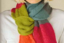 Knitted cowls, scarfs, neck warmers and sundry / by By Ann