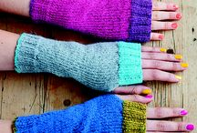 Knitting: mittens, hand warmers