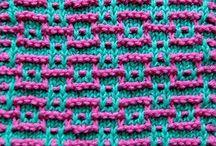 Knitting: stiches, patterns