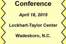 2015 Conference / Workshops and speakers at the 2015 Carolinas Writers Conference