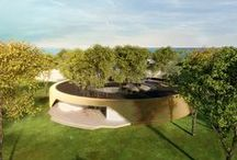 Kindergarten / Determined in accordance with existing trees, safe and an iconic design for children to the circular form..