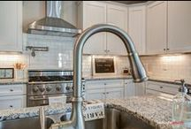 """Kitchen Sinks and Faucets / This has become my """"signature"""" shot for model home and real estate photography."""