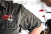 Sonny's BBQ Competition Team / All Sonny's Pitmasters are pros. But our competition team is the best of the best. Selected for their superior smokin' skills in categories like brisket, pork and whole hog, our competition team Pitmasters are on a mission for BBQ world domination.