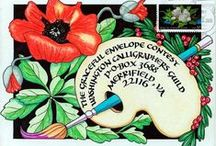 Art: Envelopes / Beautifully artistic hand decorated and addressed envelopes,