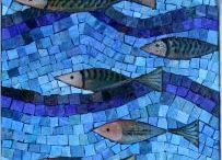 Art: Home & Garden Mosaics / Mosaic stepping stones, pathways, gazing balls, birdhouses and more...