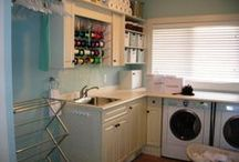 Laundry Room Remodel Ideas / My dream laundry room, cabinets, folding space, wash tub.