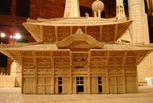 Art: Sculptures - Toothpicks / Amazing artistic creations made with toothpicks