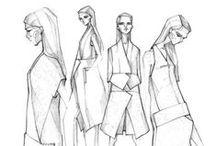 WOMAN sketchs / woman fashion sketch/illustration