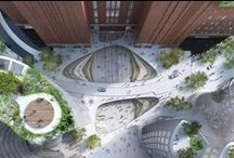Espaço públicos e espaços externos / Praças, espaços públicos e externos para inspiração.