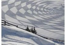 Art: Snow Crop Circles / Crop Circle type designs made in snow, most (but not all) of them created by Simon Beck.