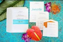 Editorial - Today's Bride - Island Flare / If you've always thought about having a bold and vibrant island-themed wedding, then take a look at this! This styled photoshoot by Make My Day Count prove that you can incorporate that fun tropical vibe into your dream wedding. From bright, bold and colourful flowers to pops of cool blue decor, the style ideas from this inspiring photo shoot are simply stunning.