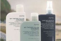 RPR My Thicker Fuller Stronger Hair Care / Shampoo, Conditioner & Give me Body and Strength Styling Treatment for thicker feeling and fuller looking hair.