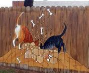 Art: Fence Decor / Artistically beautifully and/or intriguingly decorated fences.