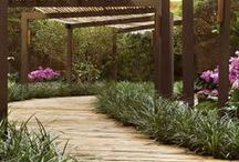Pergolados / Madeira, bambu, aço. Pergolados de todas as formas.