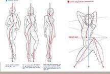 Drawing Lessons - Aula desenho / tutorial desenhos sketchs drawing lessons lições comics poses references referências