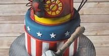 Superhero Cakes / Cakes suitable for a superhero party. Girl, or boy, these Superhero cakes are just wonderful!