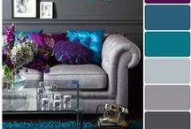 Сolor in the interior / Цвет в интерьере / Цвет в интерьере, палитры цветов на примере дизайна интерьера