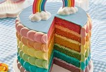Rainbow Cakes / Rainbow cakes, on the inside or out, are sure to please any one of any age group!