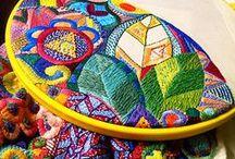 Вышивка / Нестандартная вышивка с использованием различных материалов, фактура