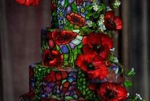 Stained Glass Cakes / Some of these cakes are so intricate, I would not want to cut into them!