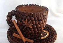 Manualidades con granos de café. Поделки из кофейных зёрен.