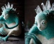 Felted toys / Валяние игрушек на каркасе