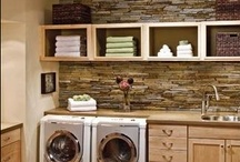 Laundry Room Design & Decor / Design that doesn't come out in the wash. Practical solutions for the dirtiest room in your home.