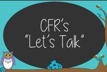 """CFR's """"Let's Talk"""" / Looking for good conversation starters for your kids?  This is the perfect place to get conversation starters for any age."""
