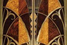 Art Deco rum/former/mönster