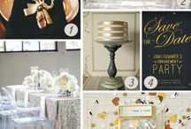 Hollywood Glam Wedding Inspiration / A very glamorous wedding board!
