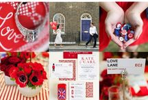 """A very British Wedding / This board screams """"Rule Britannia"""" and as a Brit I absolutely love it and our English Monestry!"""