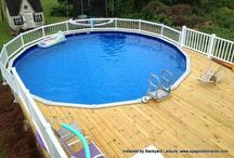 Deck with Above Ground Pool Covers