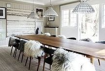 Scandinavian style / Light and bright scandinavian homes, with natural tones and wood.