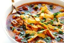 MEATY SOUPS & CHILIS | recipes / Food blogger's soup, stews, and chilis with beef, chicken, pork, fish, or seafood. Includes 30-minute recipes, but also crockpot, slow-cooker, and 1 hour recipes. Be sure to check out my VEGETARIAN SOUPS and CHILIS board too!