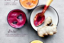 SMOOTHIES JUICES & FLAVORED WATER | recipes / The ultimate, clean-eating, nutrition in a glass. Smoothies typically involve the fruit flesh, while juices involve only the juice and the flesh is separated. Flavored waters have become a favorite summertime beverage.