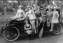Vintage photos of ladies and their Classic Motors / Inspirational board of found images- old black and white photographs of beautiful old motor cars. I just love to look to the past as an inspiration for creating my own artworks http://creatingartmoods.com/vintagemotors