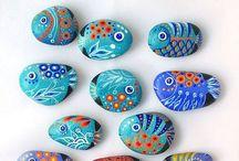 Pintando piedras.... / Piedras..