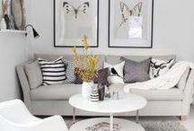 Scandinavian home / Scandinavian interiors, grey, north style, white interiors