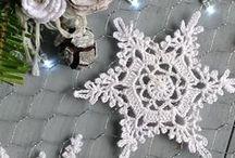 Crochet snowflakes.........