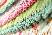 Crochet edging... Fabric Crochet Quilts