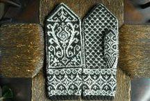 Wool Mittens...hand crafted......Norwegian Scandinavian