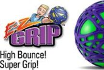 E-Z Grip Ball / A ball with a super high bounce and a soft but tough grip surface for an easy one-handed catch!