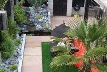 Tuin ideeën / Tuin ideeën  bestratingen, kunstgras, planten, bloemen,