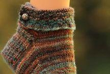 Wool Socks...Slippers...hand knitting